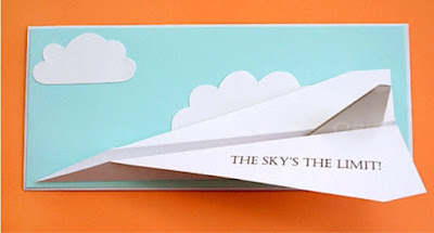 free printable paper airplane card