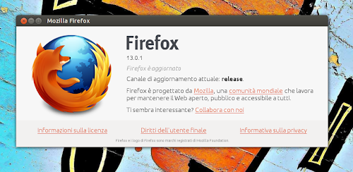 Firefox 13.0.1 su Ubuntu