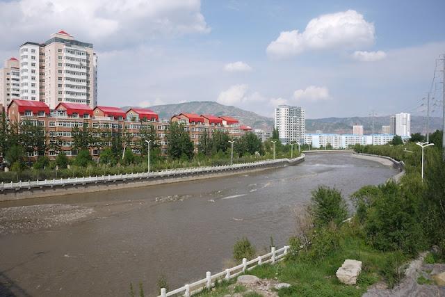 Huangshui River in Xining, Qinghai