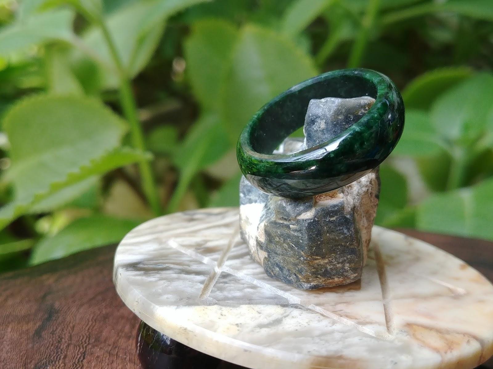 Nhẫn Cẩm Thạch Sơn Thủy chuẩn A