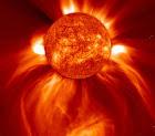 bola de fuego sol llamas