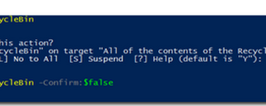 PowerShell cmdlet of the Day : Clear-RecycleBin