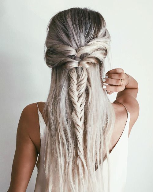 long hair -A collection of ideas for braided hair In 2017 4
