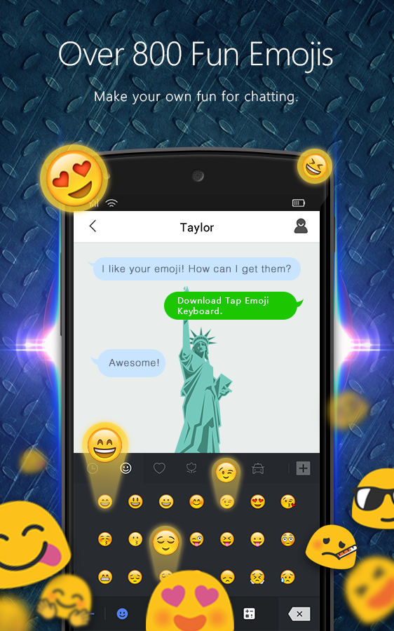 Screenshots of Tap Emoji Keyboard for iPhone