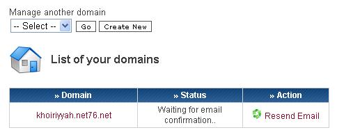 000WebHost, Email belum dikonfirmasi