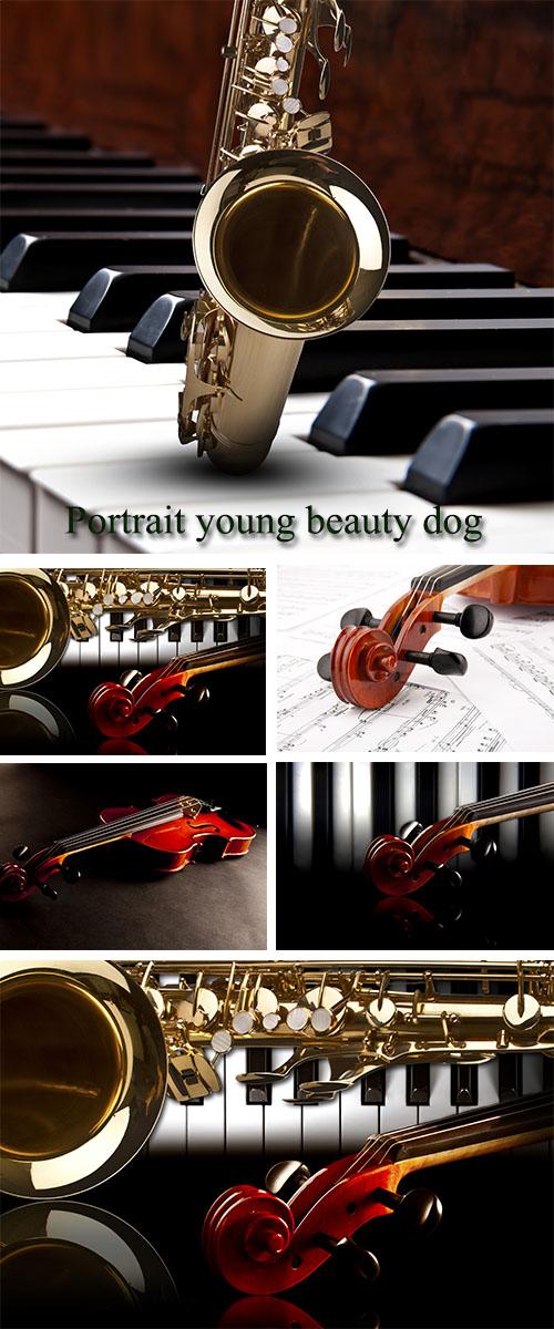 Stock Photo: Music backround