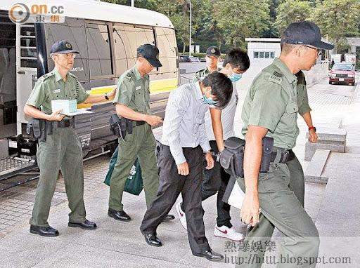 首被告陳浩南(近鏡頭)和次被告黃俊豪同被判囚九年。(資料圖片)