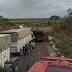 Oeste: caminhoneiro morre em grave acidente de trânsito