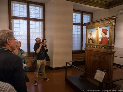 Tour guide walks of Italy Florence Uffizi Gallery 2