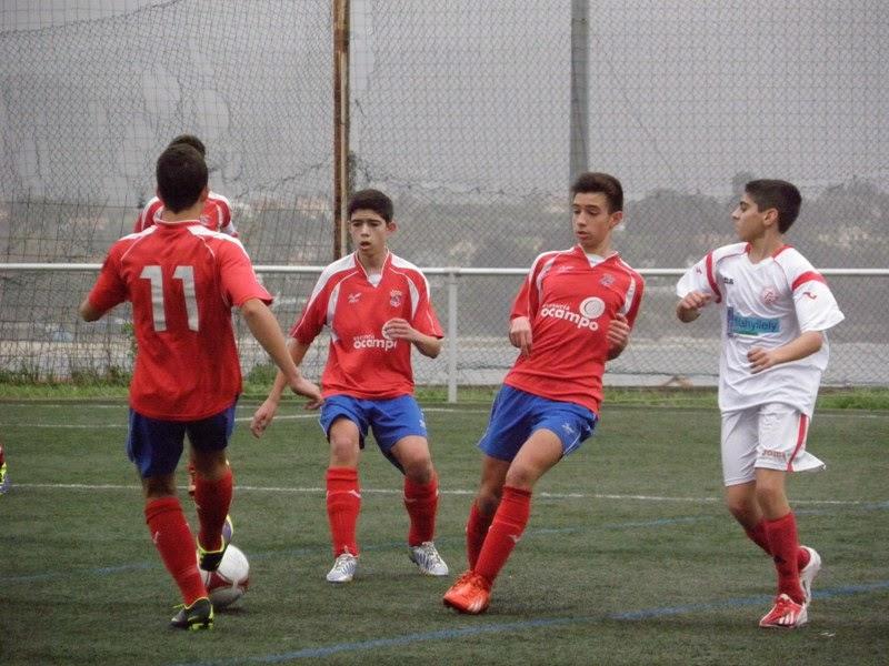 Instante do partido de cadetes Numancia - Miño (09/11/2013)