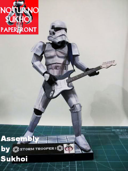 Rock and Roll Stormtrooper Paper Model