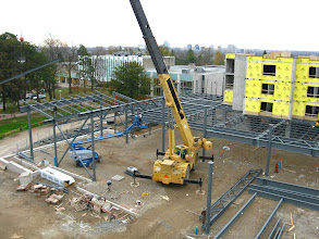 Photo: Marche Dining hall steel being erected Nov 12,12