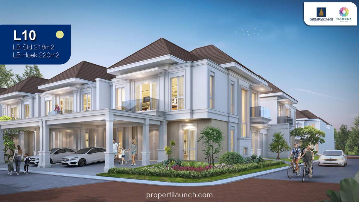 Rumah Pasadena Residence Paramount Land Tipe 10
