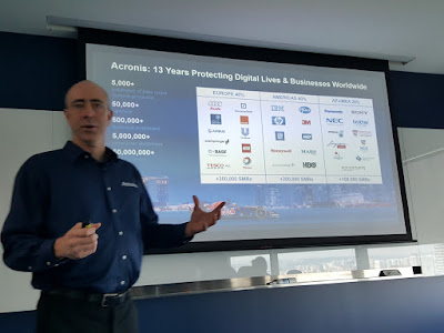 Mike Chadwick, VP of Engineering and Cloud Operations at Acronis, explained the Acronis advantage at a media briefing.