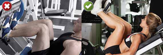 Leg Press with Poor Knee Position and Leg Press: Safer Moves