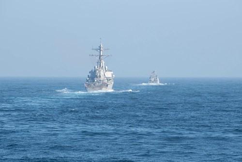 El ejército marroquí y la Marina de los EE.UU realizan conjuntamente maniobras navales en las costas marroquíes.