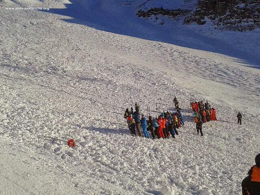 Avalanche Aravis, secteur Mont Lachat, Entre le noire du Lachet et les Lanches - Photo 1