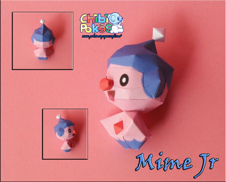 Chibi Mime Jr Papercraft