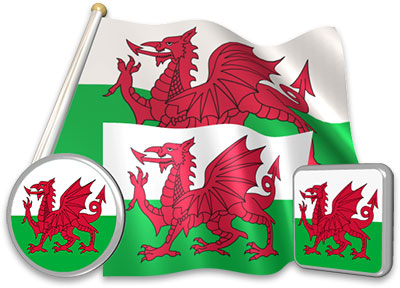 Welsh flag animated gif collection