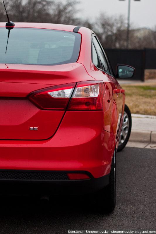 Ford Focus III 3 Sedan Red Stoplights Mirror View Форд Фокус 3 III Седан Красный Вид Сзади Фары Стопсигналы Зеркало