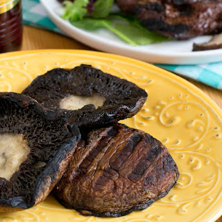 Grilled Portobello Mushrooms with Roasted Garlic Infused Red Wine Vinegar Recipe