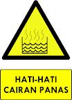 Rambu Bahaya Cairan Panas