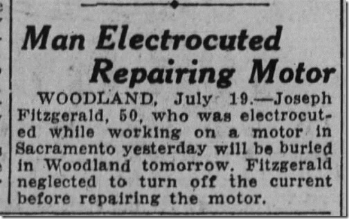 Man Electroluted
