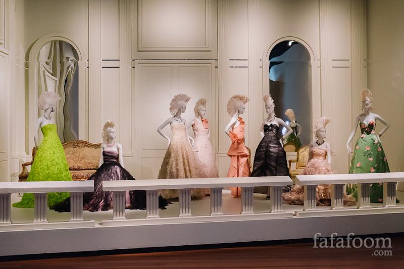 """Vogue December 2010 Cover"" Showcase of Oscar de la Renta: The Retrospective exhibition at de Young Museum, San Francisco."