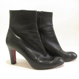 Christian Louboutin Black Leather Booties 2