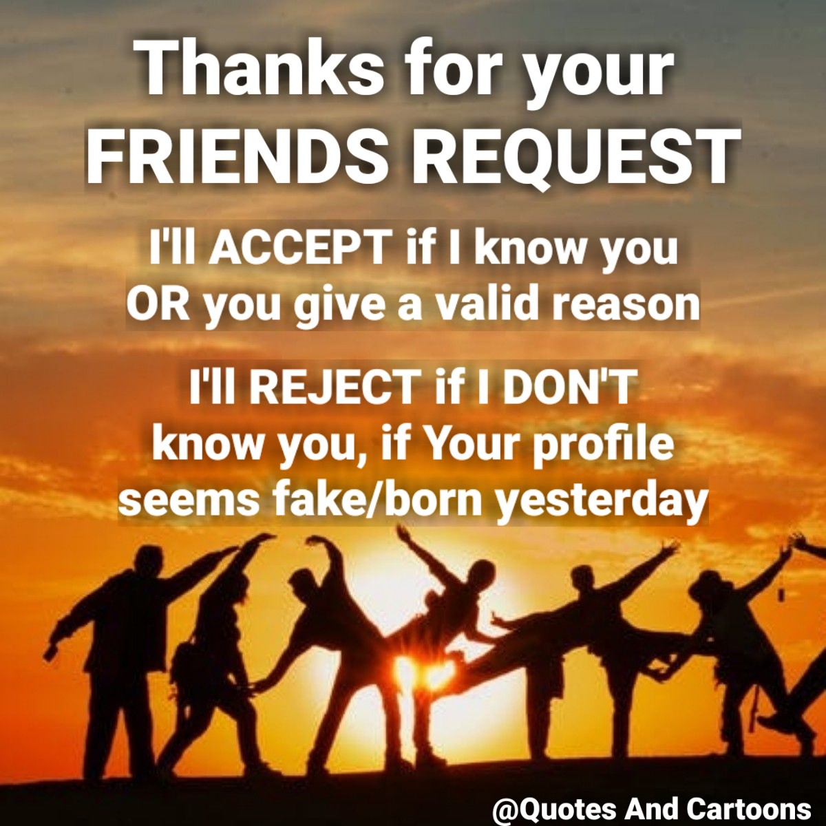 friends request quotes and cartoons
