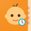 Baby Daybook: Baby Tracker Day by Day. Newborn log icon