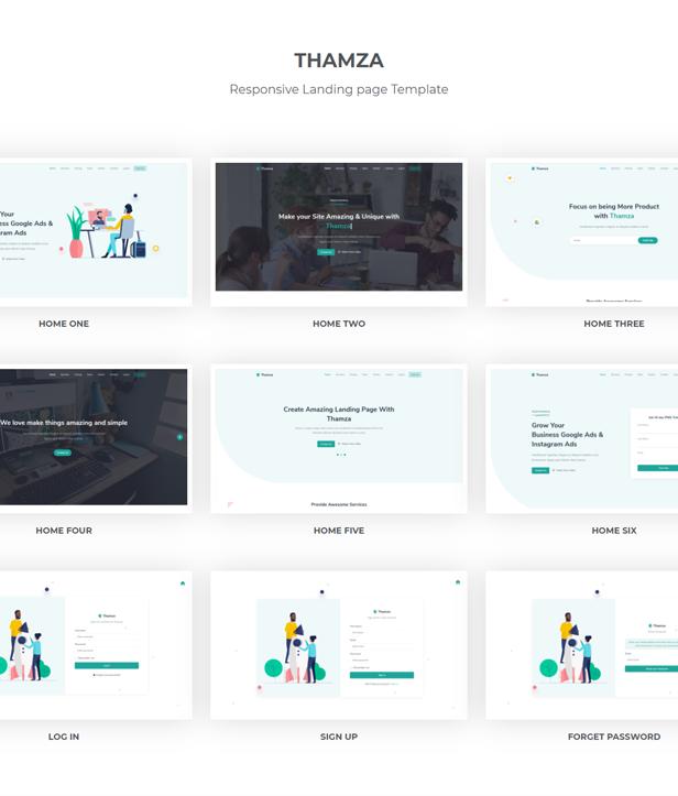 Thamza - React Js Landing Page Template - 1