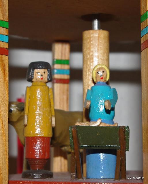 Maria, Josef und das Kind in der Krippe