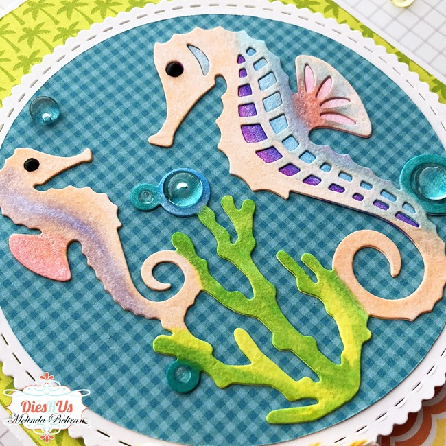 sea horse die cut