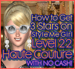 Style Me Girl Level 22 - Haute Couture - D'are - Stunning! Three Stars
