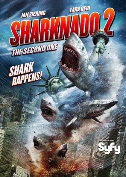 Poster Of English Movie Sharknado 2: The Second One (2014) Free Download Full New Hollywood Movie Watch Online At alldownloads4u.com