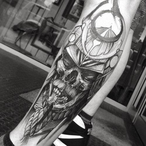 este_imponente_kabutu_tatuagem_de_caveira
