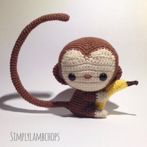 Monkey hugs banana @SimplyLambchops