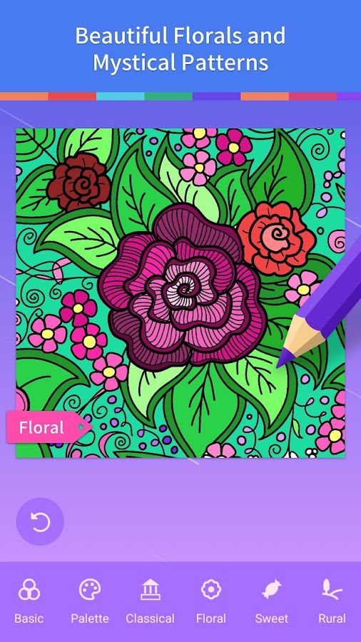 adult coloring book screenshot - Coloring Book App For Adults