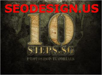 Wood text effect in photoshop by 10steps
