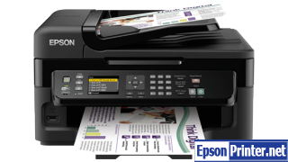 How to Reset Epson WorkForce WF-2548 flashing lights problem