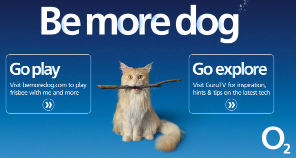 O2 Be More Dog — This Cat Just Wants To Be A Dog Advert