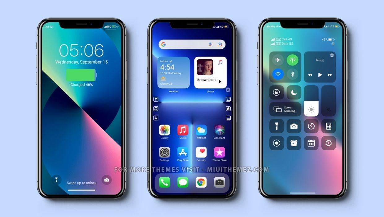 iPhone 13 MIUI Theme for Xiaomi Phones