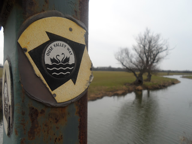Ouse Valley Way marker