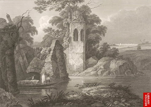 Pagla Pool, with part of Dhaka in the Extreme Distance - by D'Oyly in 1817