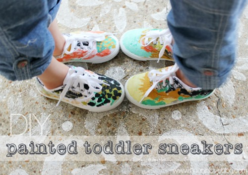 painted toddler sneakers