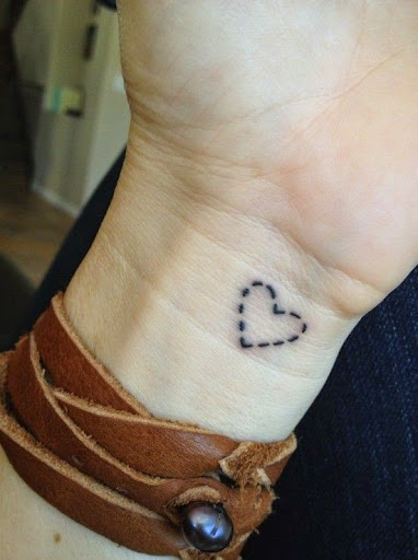 heart tattoos for girls on wrist