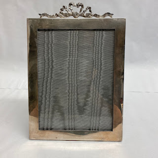 Sterling Silver Ribbon Picture Frame