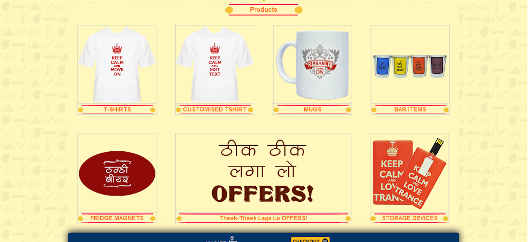 Keep Calm Desi - Startup Products