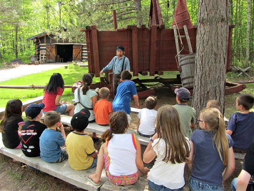 co-op field trip to a forest history center